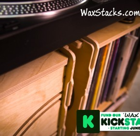 Wax Stacks Record Crate Close-up