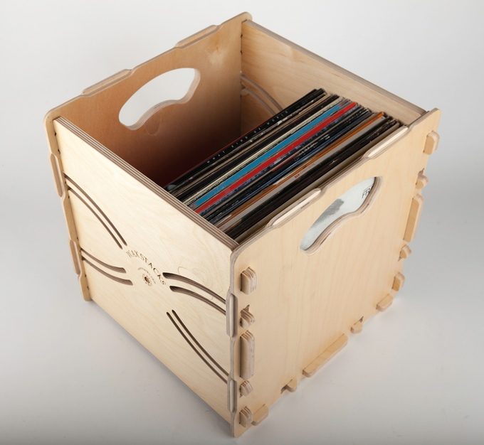 Wax Stacks Portable Stackable Record Crates