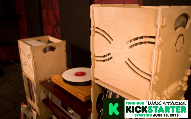 Wax Stacks record crates go together without any tools